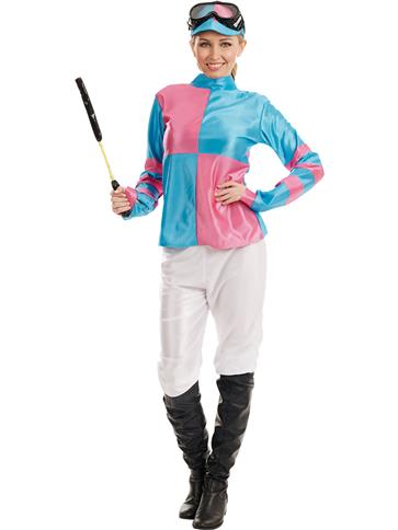 Pink And Blue Jockey Girl Adult Costume Party Delights