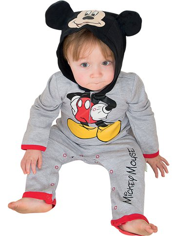 Mickey Mouse Jersey Romper - Baby Costume front