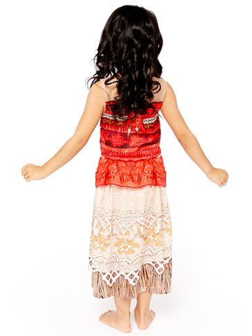 Disney Moana Deluxe - Child Costume back