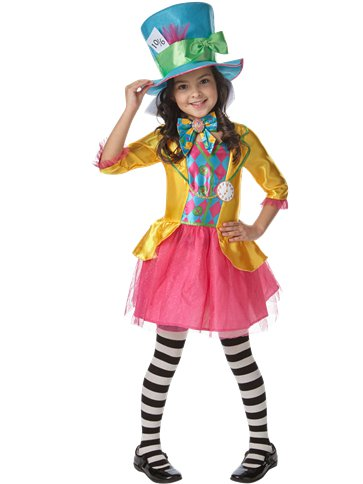 Disney Alice in Wonderland Mad Hatter Girl - Child & Teen Costume front