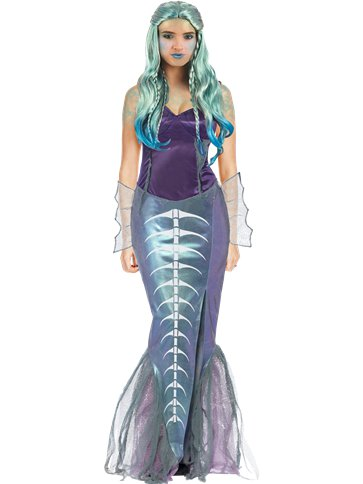 Zombie Mermaid Adult Costume Party Delights
