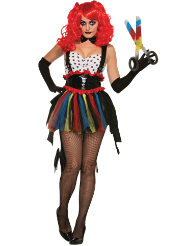Evil Clown Girlie - Adult Costume front