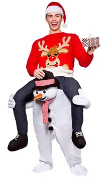 Carry Me Snowman - Adult Costume
