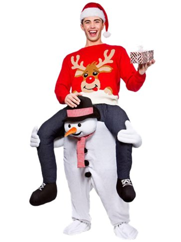 Carry Me Snowman - Adult Costume front