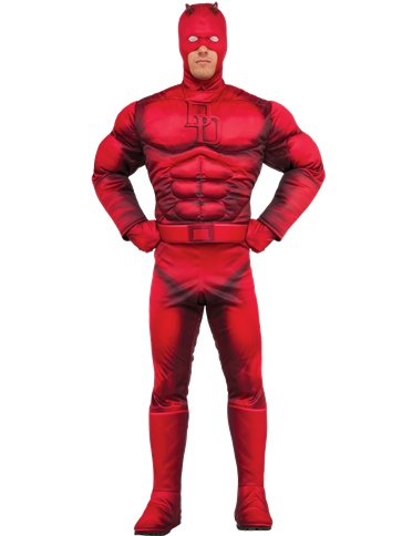 Daredevil Deluxe Muscle Chest - Adult Costume front