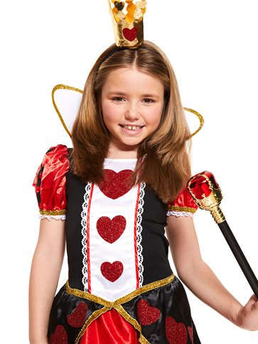 Queen of Hearts - Child Costume back