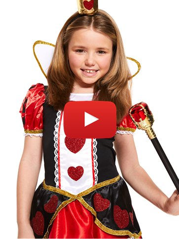 Queen of Hearts - Child Costume video