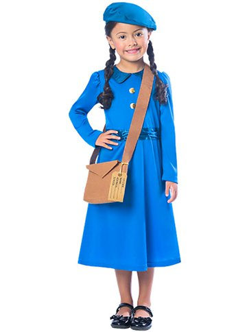 Evacuee Girl - Child Costume front