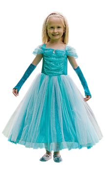 Turquoise Sparkle Princess - Child Costume