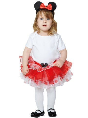 Minnie Mouse Tutu & Headband Set - Baby and Toddler Costume front