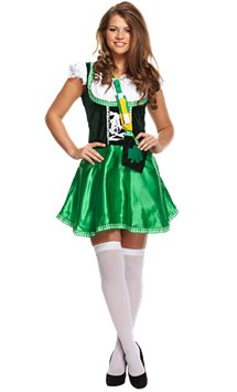 Sexy Irish Lady - Adult Costume