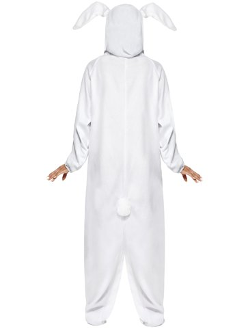 White Rabbit Costume - Adult Costume back