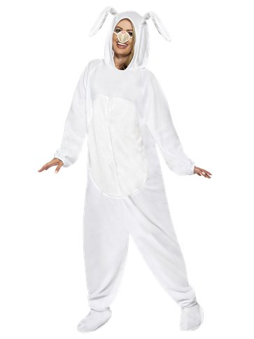 White Rabbit Costume - Adult Costume front