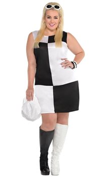 Mod Girl Plus Size - Adult Costume