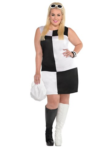 Mod Girl Plus Size - Adult Costume front