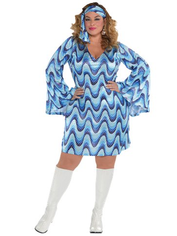 Disco Lady Plus Size - Adult Costume front