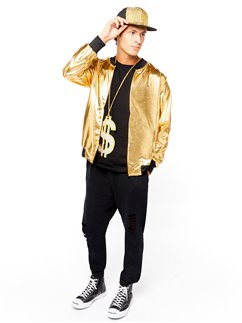 90's Hip Hop Gold Jacket