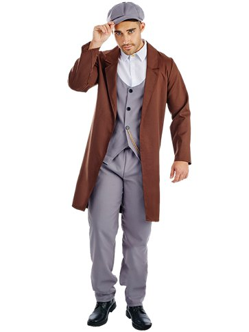 Peaked Cap Gangster - Adult Costume front