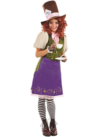 Miss Hatter - Adult Costume
