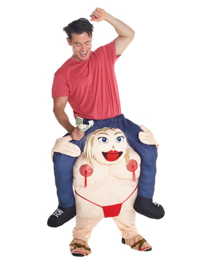 Piggyback Striper - Adult Costume
