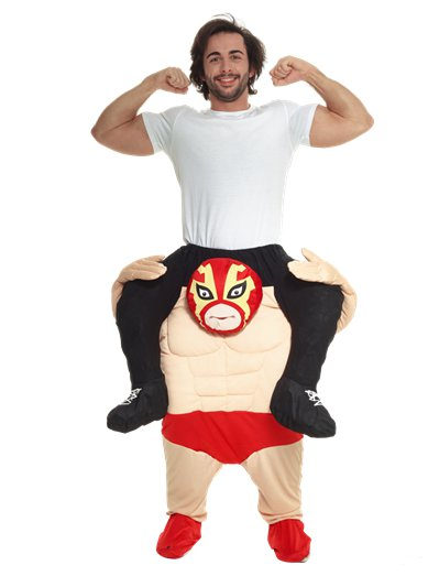 Piggyback Wrestler - Adult Costume
