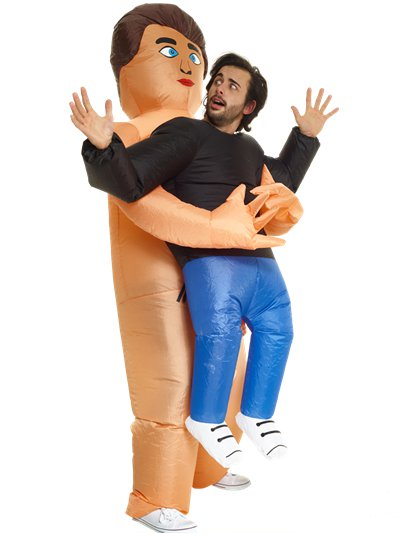 Inflatable Pick Me Up Naked Guy - Adult Costume