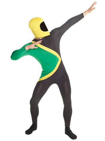 Jamaican Morphsuit - Adult Costume front