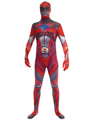 Power Rangers Movie Morphsuit Red - Adult Costume front