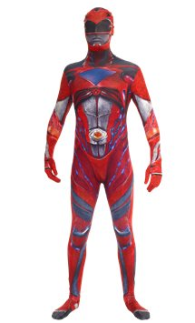 Power Rangers Movie Morphsuit Red - Adult Costume