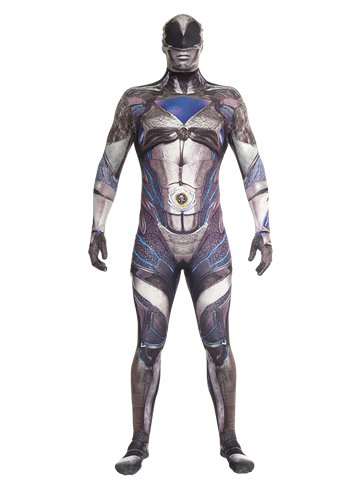 Power Rangers Movie Morphsuit Black - Adult Costume front