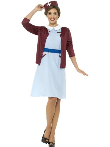 Vintage Nurse - Adults Costume front