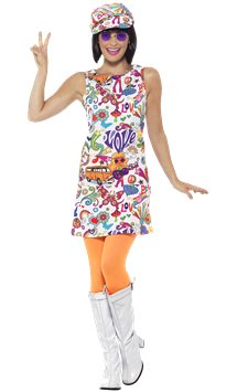 60s Groovy Chick - Adults Costume
