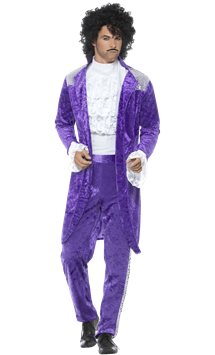 80's Purple Musician - Adult Costume