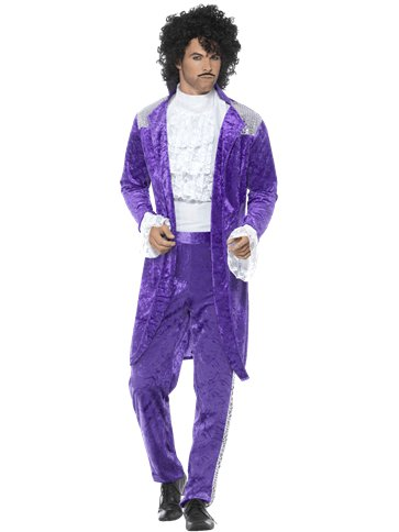 80's Purple Musician - Adult Costume front