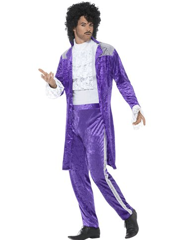80's Purple Musician - Adult Costume left