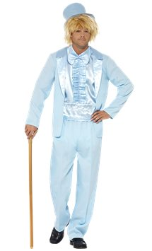 90's Stupid Tuxedo Blue - Adult Costume