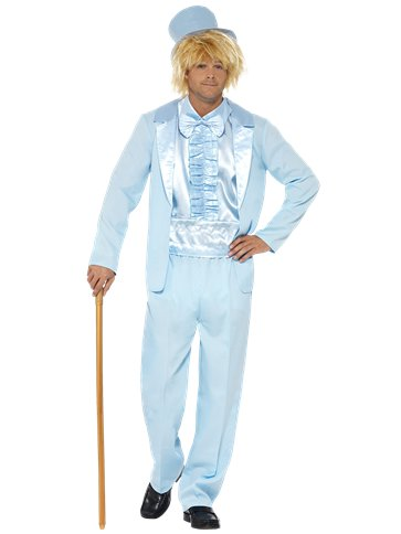 90's Stupid Tuxedo Blue - Adult Costume front