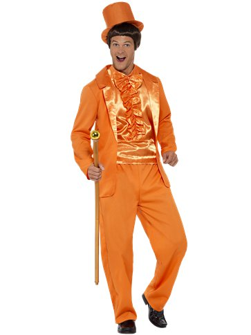 90s Stupid Tuxedo Orange - Adult Costume front