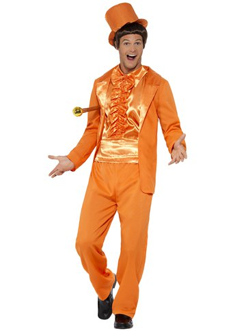 90s Stupid Tuxedo Orange - Adult Costume left
