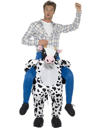 Piggyback Cow - Adult Costume front