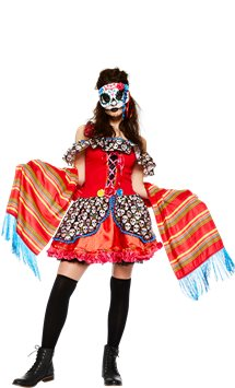 Senora Sugar Skull - Adult Costume