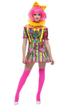 Fever Patchwork Clown - Adult Costume