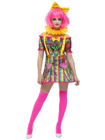 Fever Patchwork Clown - Adult Costume front