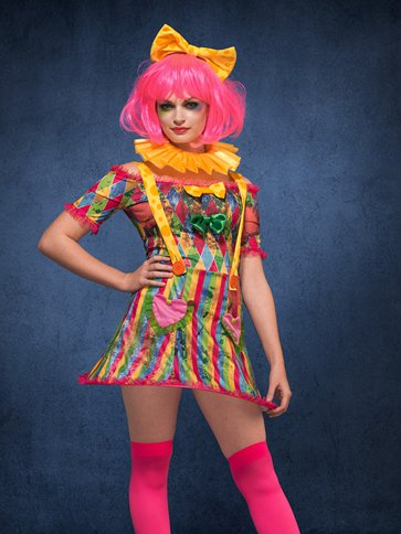 Fever Patchwork Clown - Adult Costume left