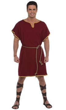 Burgundy Tunic - Adult Costume