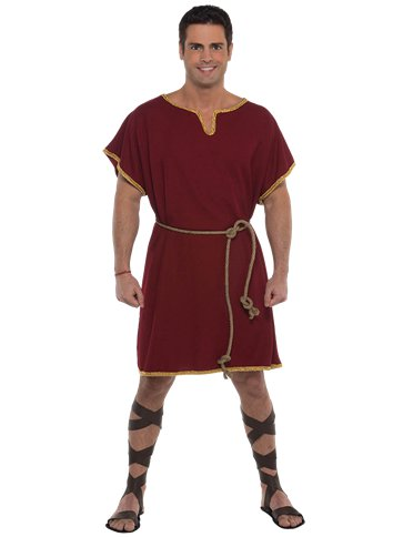 Burgundy Tunic - Adult Costume front