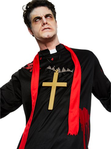 Zombie Vicar - Adult Costume back