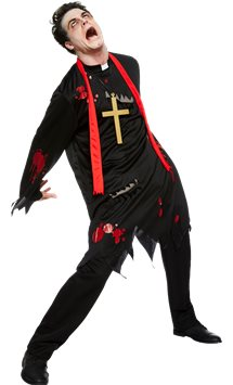 Zombie Vicar - Adult Costume