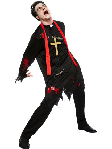 Zombie Vicar - Adult Costume front