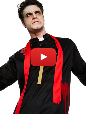 Zombie Vicar - Adult Costume video